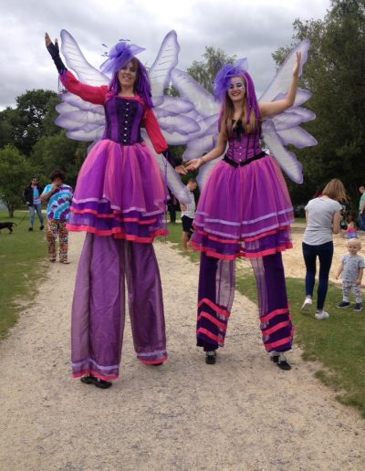 fairy stilt walkers for hire higher beings