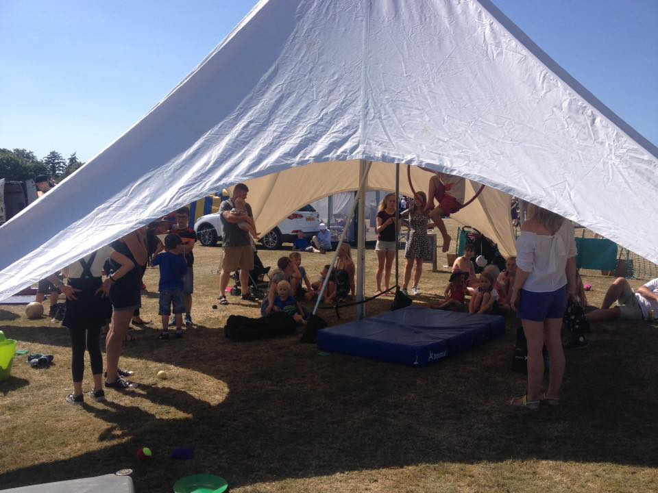 7 tent people