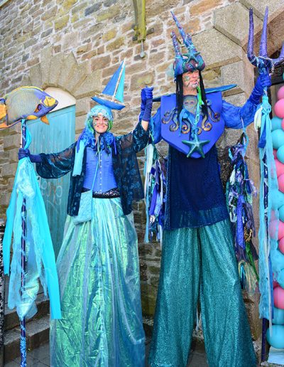 stilt walkers nautical