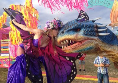 dragon kiss stilt walker and walking dragon