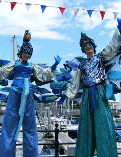 stilt walkers stiltwalking stilt walking nautical